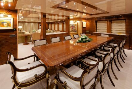 o_ceanos superyacht charter interior dining (1)_valef -  Valef Yachts Chartering - 5549