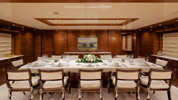 o_ceanos superyacht charter interior dining (2)_valef -  Valef Yachts Chartering - 5548