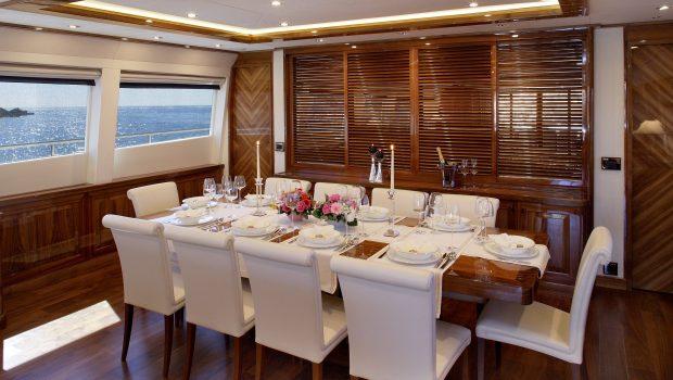 dragon motor yacht dining min min -  Valef Yachts Chartering - 4827