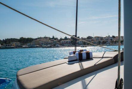 elvira catamaran lagoon 500 sun bathing (2)_valef -  Valef Yachts Chartering - 5562