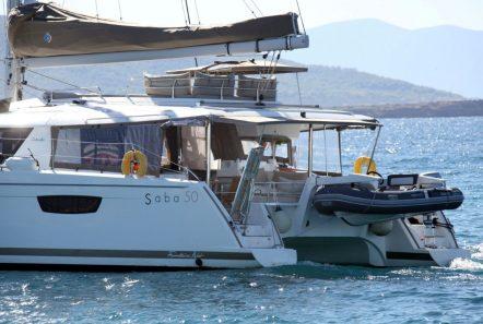 tiziano saba 50 catamaran aft view -  Valef Yachts Chartering - 2777