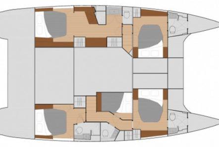 tiziano saba 50 catamaran layout -  Valef Yachts Chartering - 2756