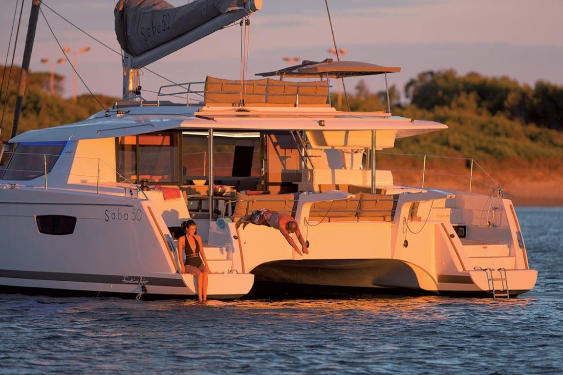 tiziano saba 50 catamaran profile (1) -  Valef Yachts Chartering - 2755