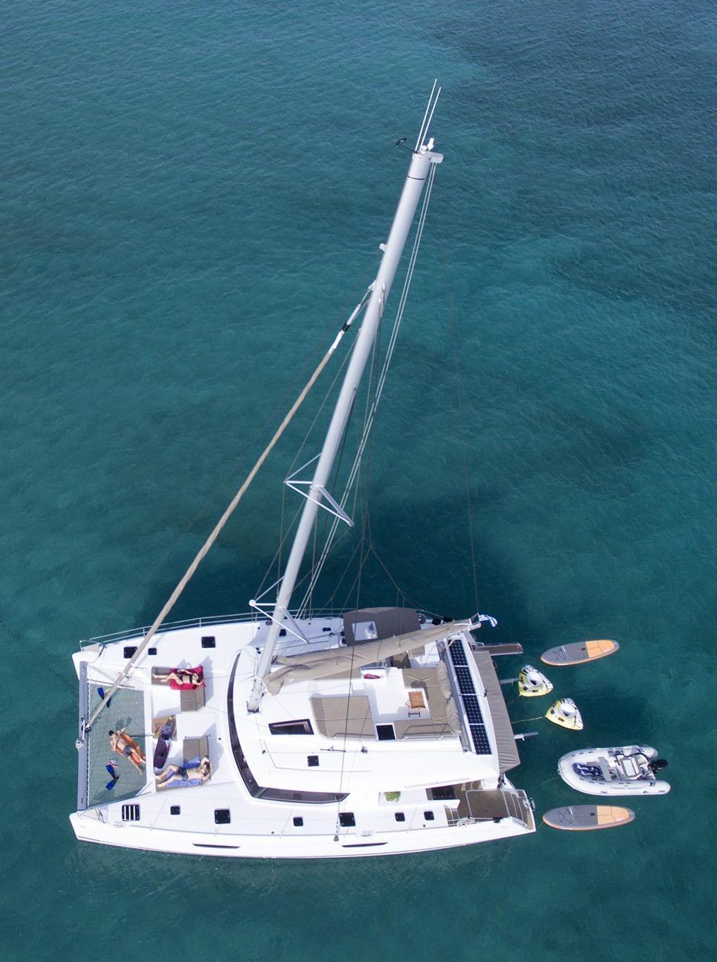 new horizons ii catamaran aerial_valef -  Valef Yachts Chartering - 5403