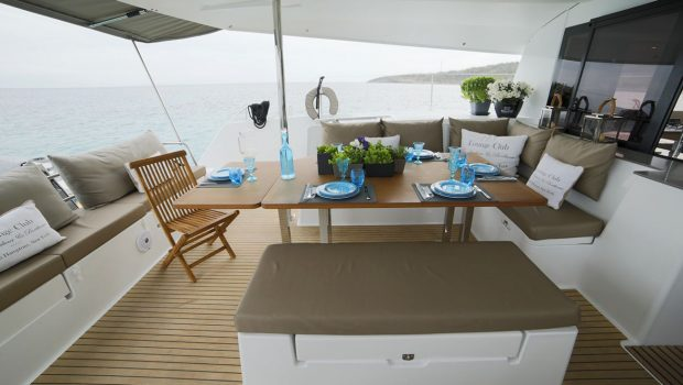 new horizons ii catamaran exterior aft_valef -  Valef Yachts Chartering - 5395