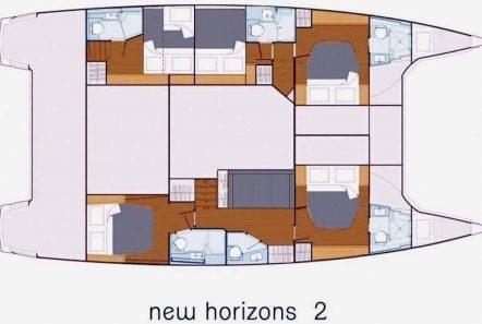 new horizons ii catamaran layout_valef -  Valef Yachts Chartering - 5390