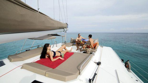 new horizons ii catamaran upper deck_valef -  Valef Yachts Chartering - 5386