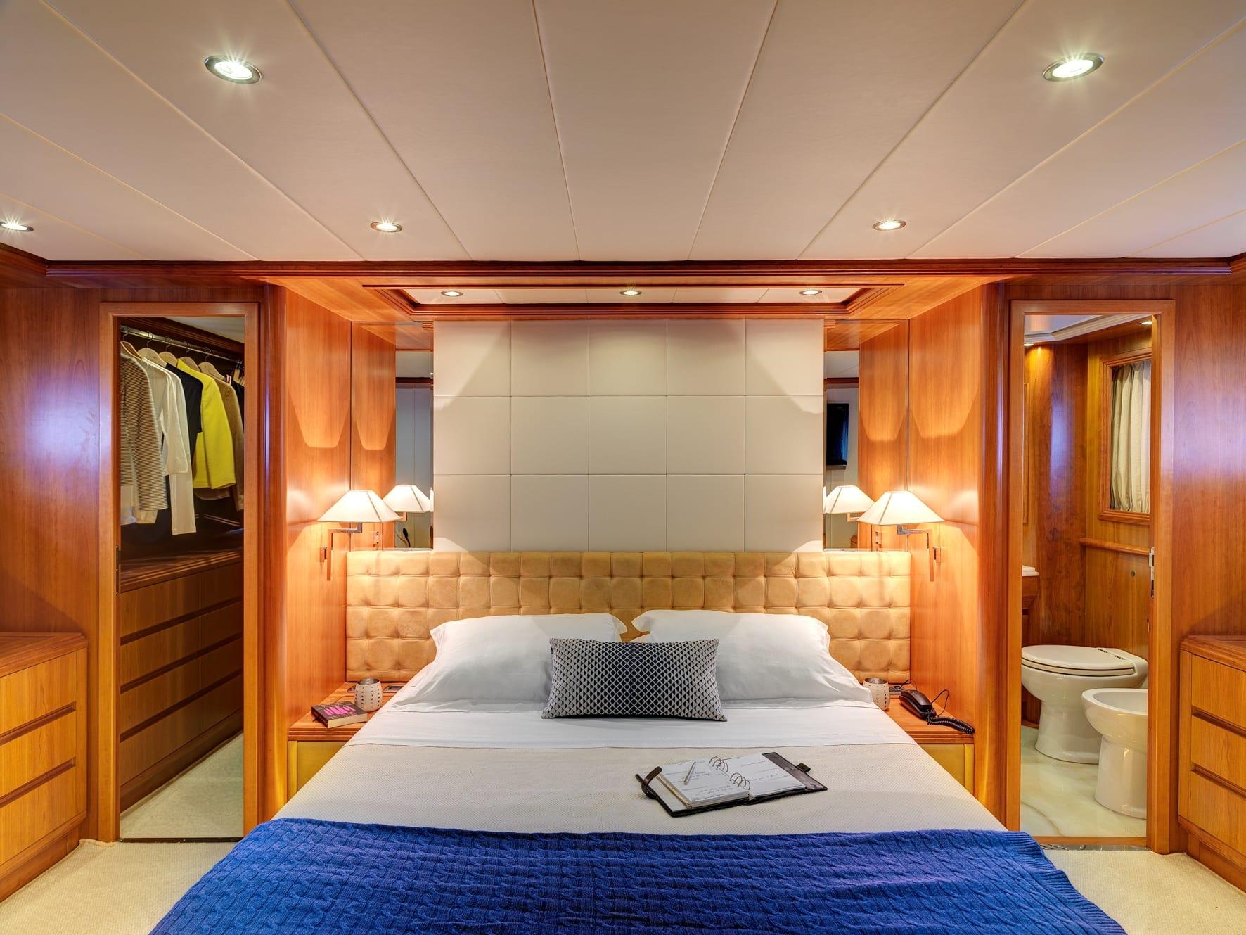 aimilia motor yacht master stateroom (2) -  Valef Yachts Chartering - 0018