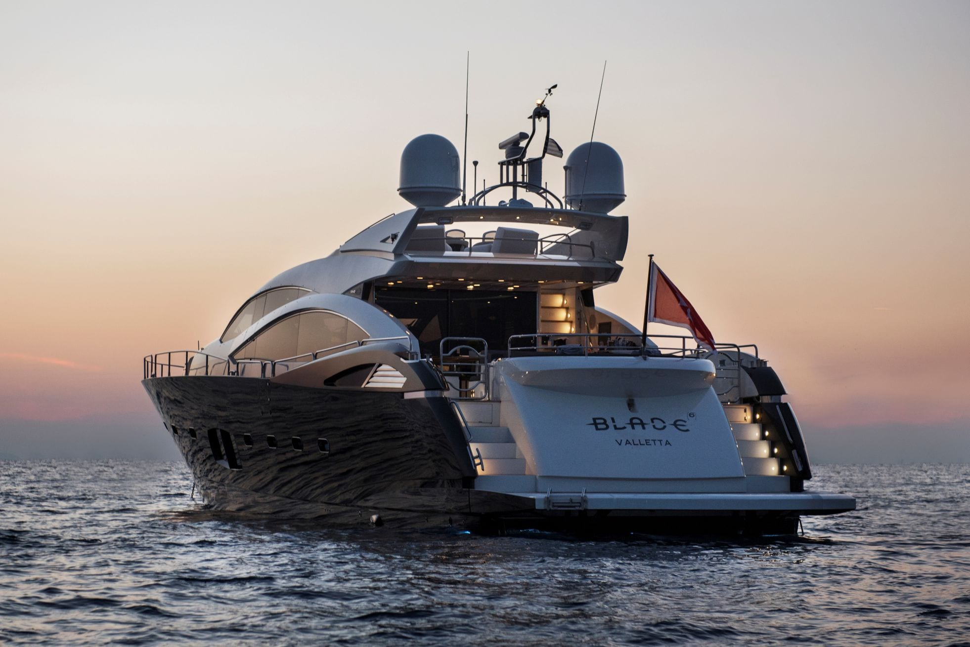 Blade charter yacht aft_valef -  Valef Yachts Chartering - 5778