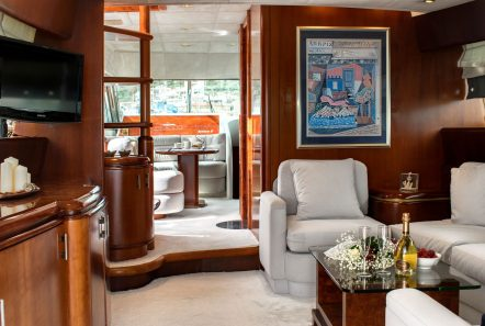 BLUE N WHITE Salon (2) -  Valef Yachts Chartering - 6430
