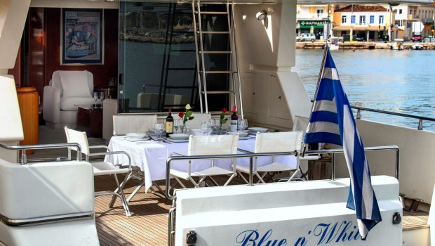 BLUE N WHITE aft deck (1) -  Valef Yachts Chartering - 6423