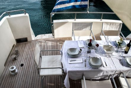 BLUE N WHITE aft deck (2) -  Valef Yachts Chartering - 6422