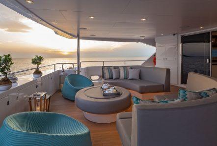 AQUA LIBRE Upper lounge -  Valef Yachts Chartering - 6468