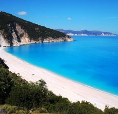 popular beach in the Ionian islands