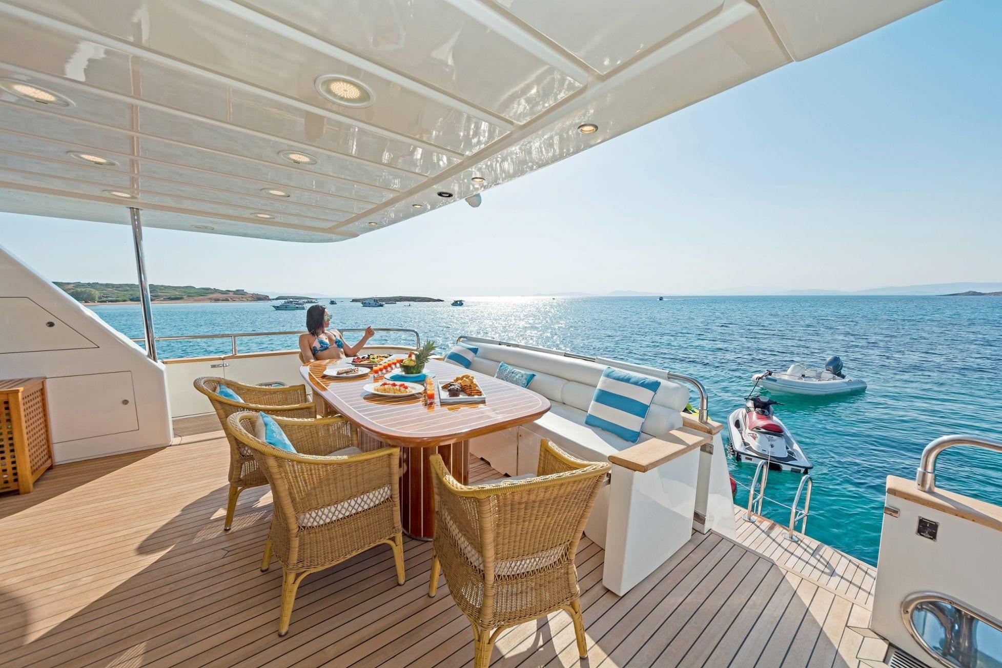 POIROT aft deck (2) -  Valef Yachts Chartering - 6309