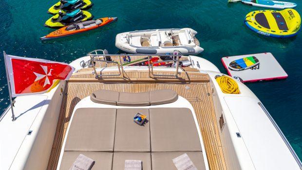 cosmos i yacht aft sunbathing seatoys valef -  Valef Yachts Chartering - 5324