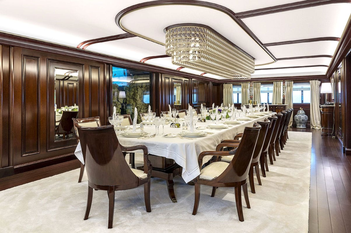 valef yachts corporate entertainment hospitality charter grand ocean dining salon -  Valef Yachts Chartering - 5350