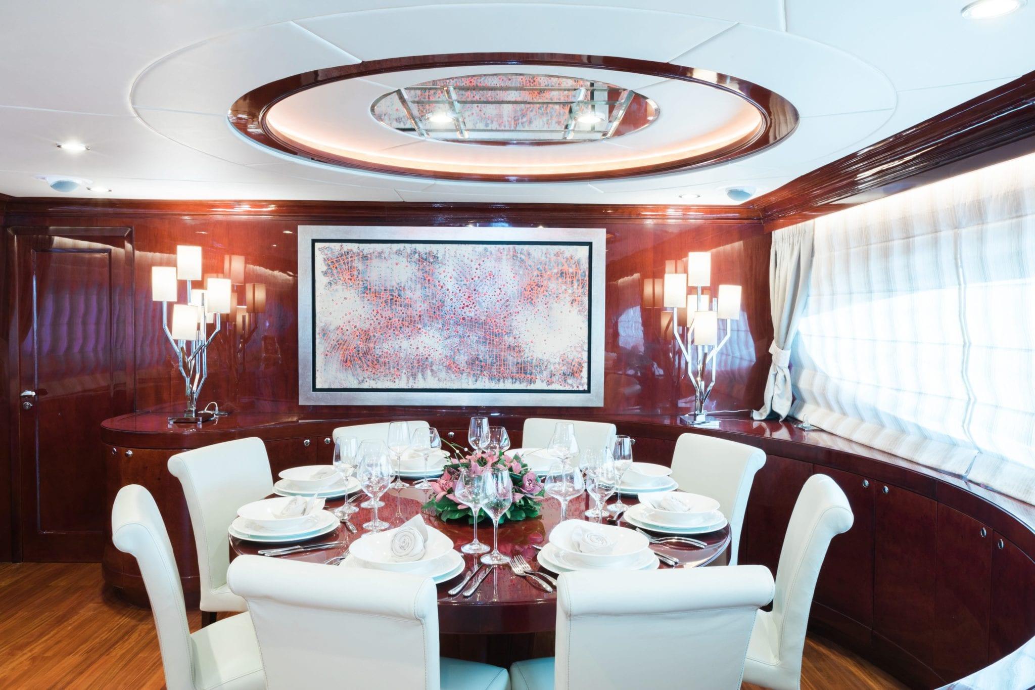 albator motor yacht dining -  Valef Yachts Chartering - 3860
