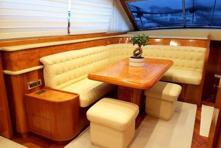 amoraki motor yacht dining (1) min -  Valef Yachts Chartering - 5052