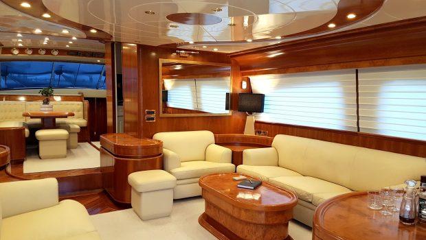amoraki motor yacht salon (2) min -  Valef Yachts Chartering - 5050