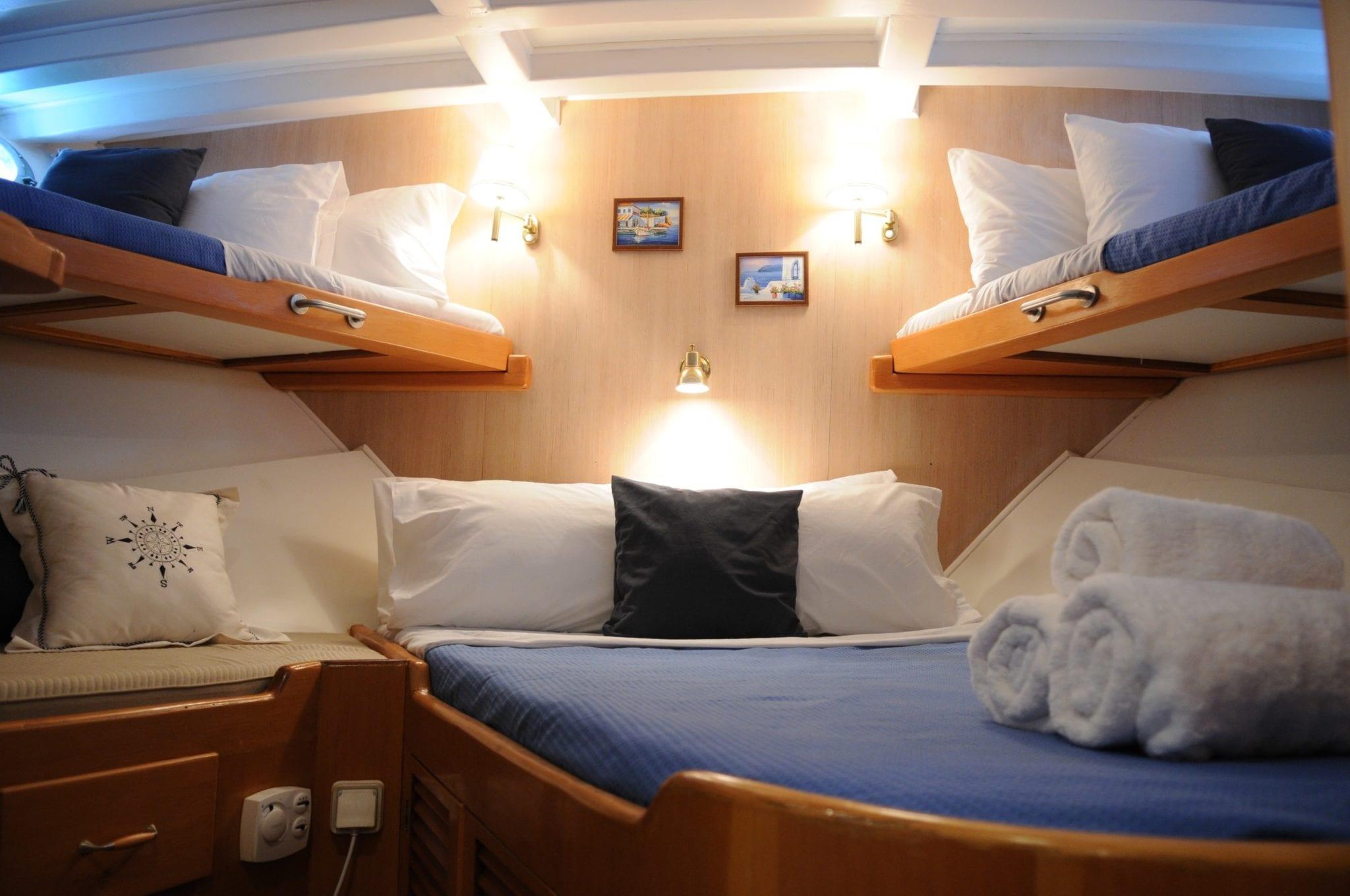 apollon motor sailer cabin min -  Valef Yachts Chartering - 4744