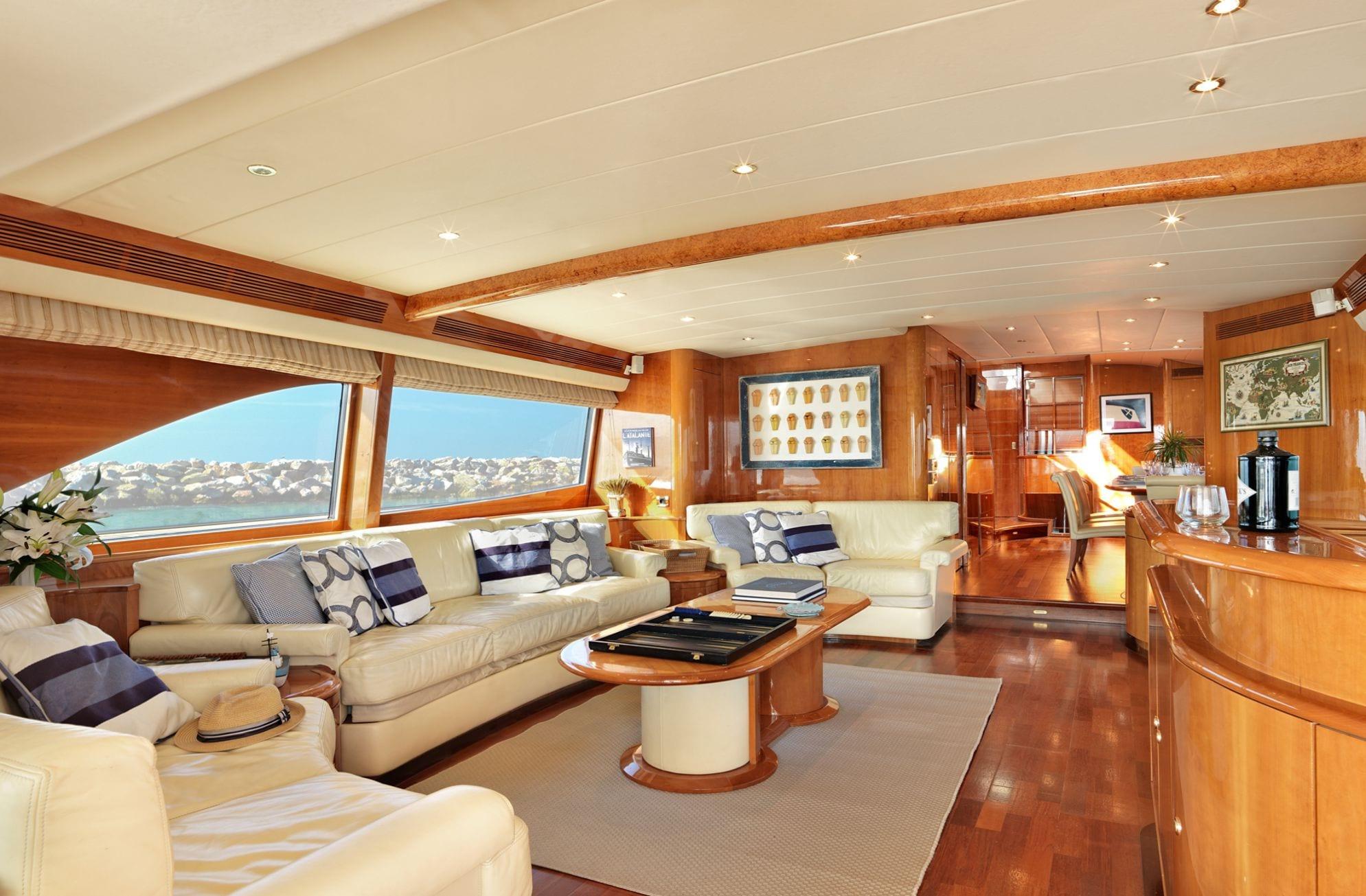 atalanti motor yacht salon (1)_valef -  Valef Yachts Chartering - 5218