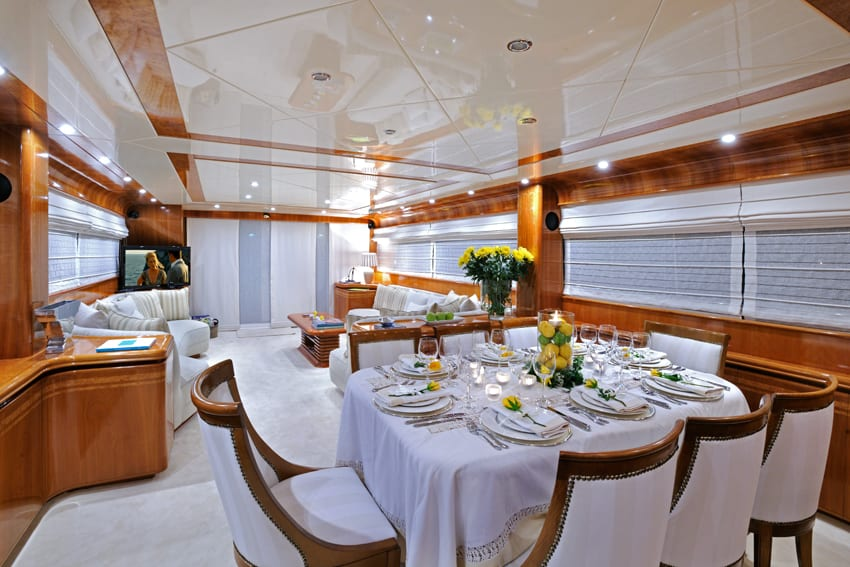 blu sky canados dining (1) -  Valef Yachts Chartering - 4366