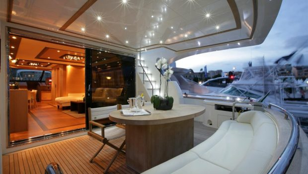 blue angel motor yacht aft deck (1) min -  Valef Yachts Chartering - 5293