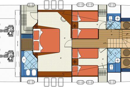 blue angel motor yacht deck plan (4) min -  Valef Yachts Chartering - 5286
