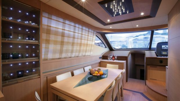 blue angel motor yacht dining min -  Valef Yachts Chartering - 5285