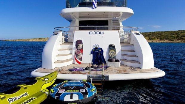 cudu motor yacht swim platform min -  Valef Yachts Chartering - 4795