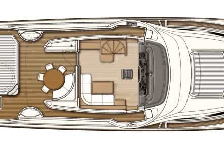 dana motor yacht deck plan (1) -  Valef Yachts Chartering - 4269