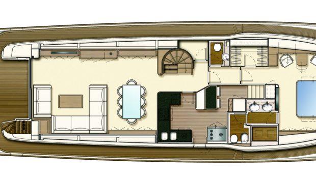 dana motor yacht deck plan (2) -  Valef Yachts Chartering - 4268