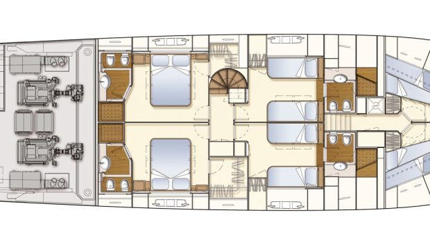 dana motor yacht deck plan (3) -  Valef Yachts Chartering - 4267
