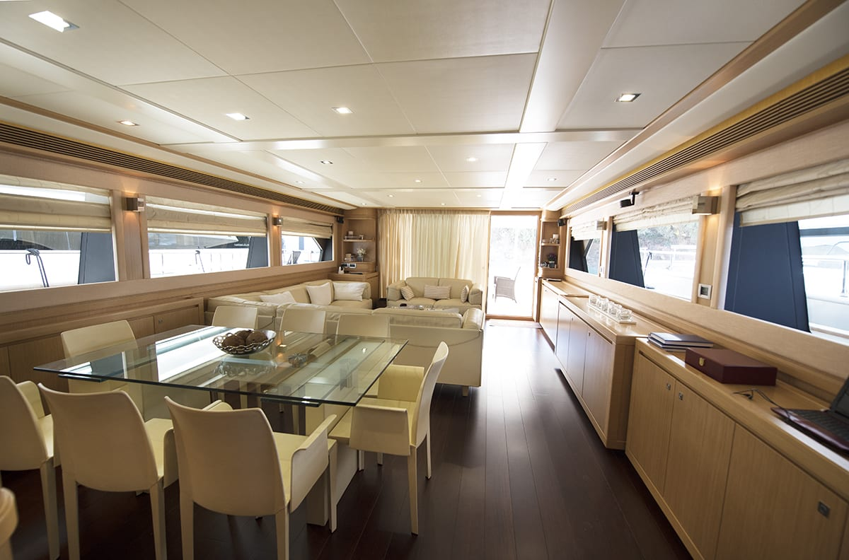 dana motor yacht dining -  Valef Yachts Chartering - 4265