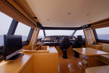 dana motor yacht salon to cockpit -  Valef Yachts Chartering - 4293