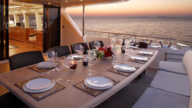 dragon motor yacht aft table min -  Valef Yachts Chartering - 4934