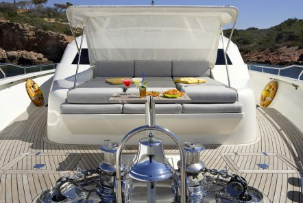dragon motor yacht fore with bimini min -  Valef Yachts Chartering - 4933