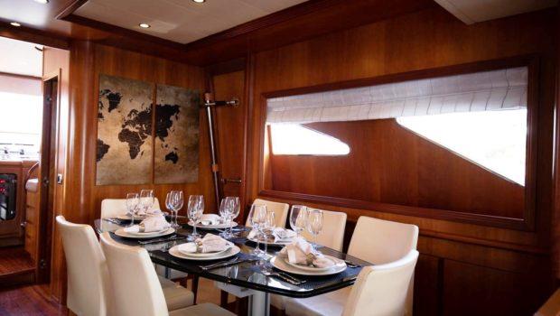 freedom motor yacht dining (1) -  Valef Yachts Chartering - 0594