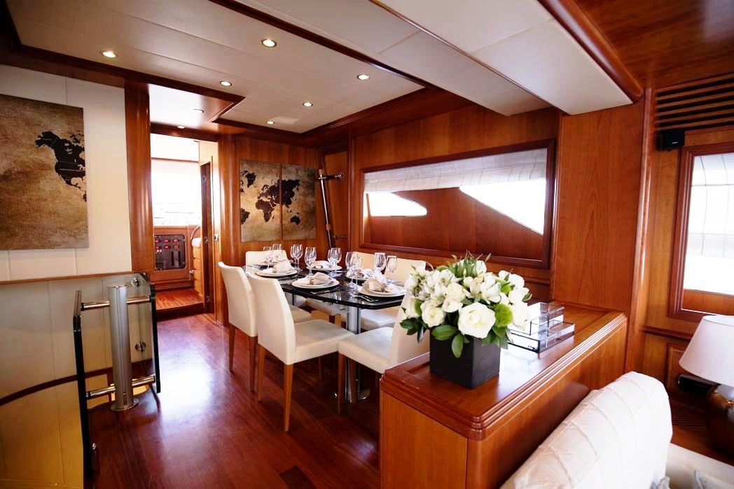 freedom motor yacht dining (2) -  Valef Yachts Chartering - 0593