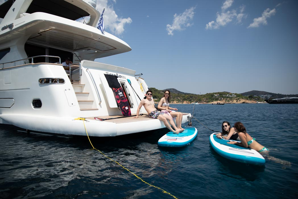 freedom motor yacht swim platform sea toys -  Valef Yachts Chartering - 0585