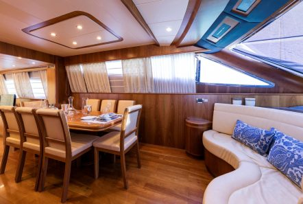 gorgeous motor yacht dining (2) min -  Valef Yachts Chartering - 3949