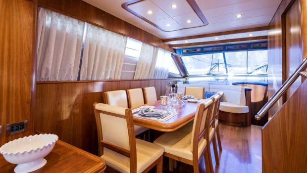 gorgeous motor yacht dining table (1) min -  Valef Yachts Chartering - 3948