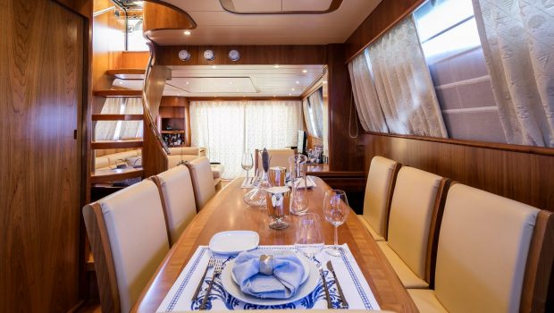 gorgeous motor yacht dining table (2) min -  Valef Yachts Chartering - 3947
