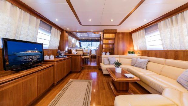 gorgeous motor yacht salon (1) min -  Valef Yachts Chartering - 3931