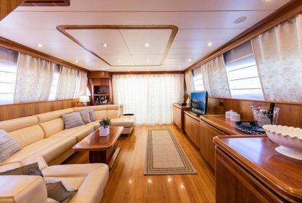 gorgeous motor yacht salon (2) min -  Valef Yachts Chartering - 3930