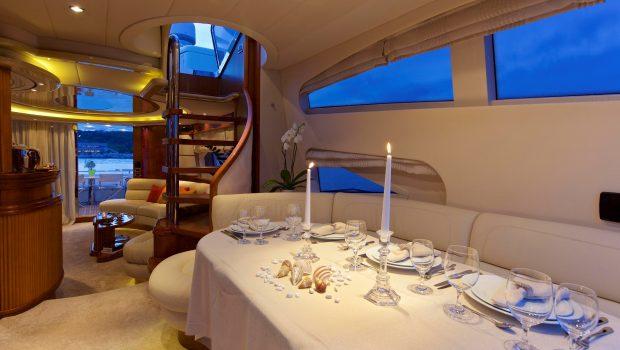 iris azimut motor yacht dining (1) -  Valef Yachts Chartering - 4506