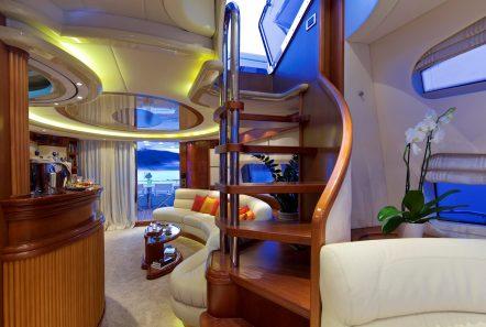 iris azimut motor yacht stairs -  Valef Yachts Chartering - 4494