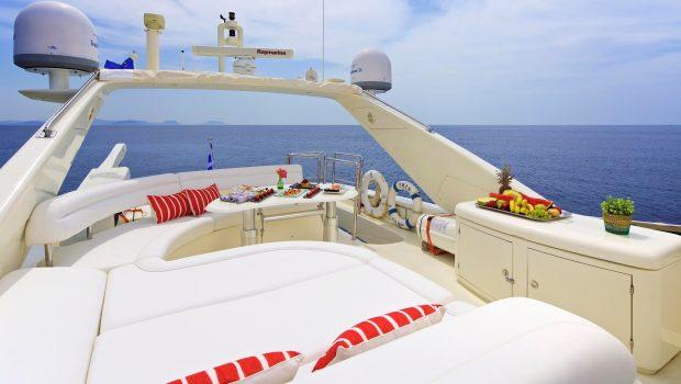 iris azimut motor yacht upper deck (2) -  Valef Yachts Chartering - 4486