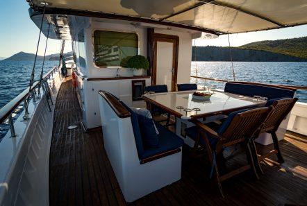 joanna k greek motor sailer aft table2 min -  Valef Yachts Chartering - 4398